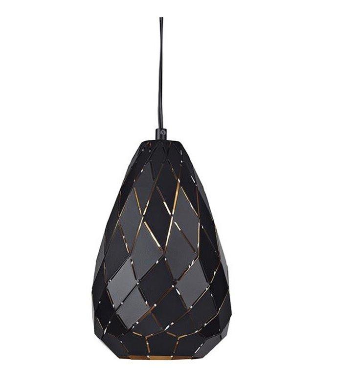 Nowoczesna metalowa lampa wisząca Fade w kolorze czarnym geometryczna
