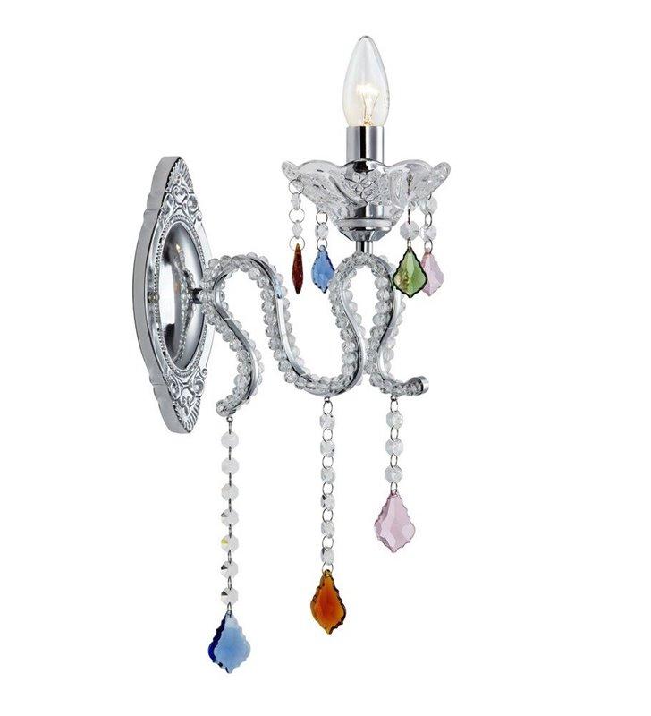 Kryształowy oryginalny pojedynczy kinkiet Caramel kolorowe kryształki włacznik na kablu