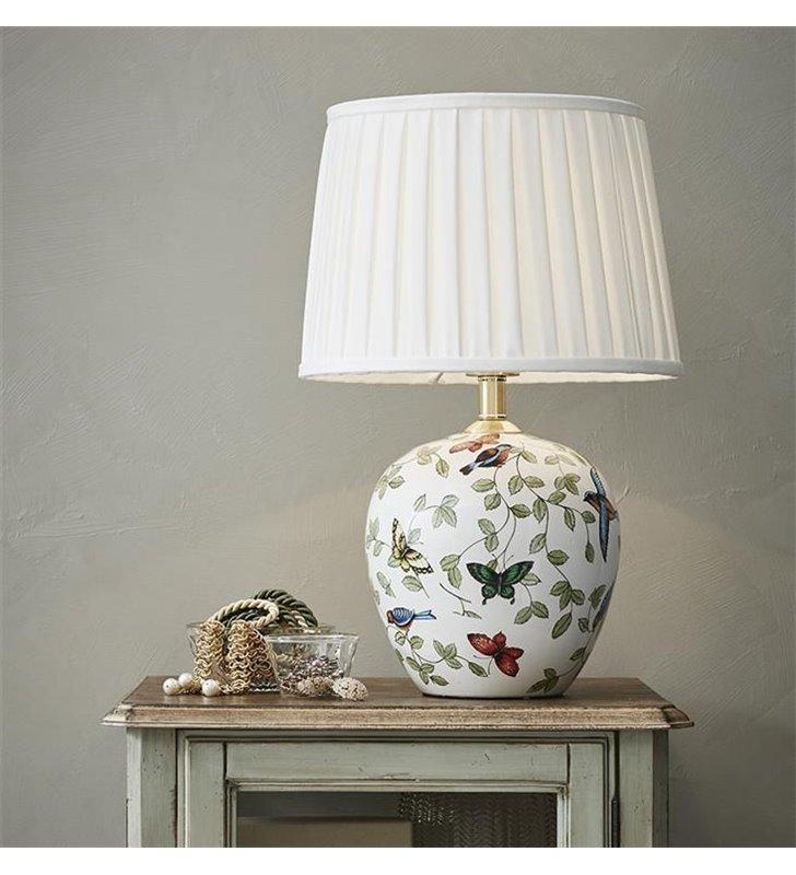 Mansion lampa stołowa z ozdobną dekoracyjną ceramiczną podstawą