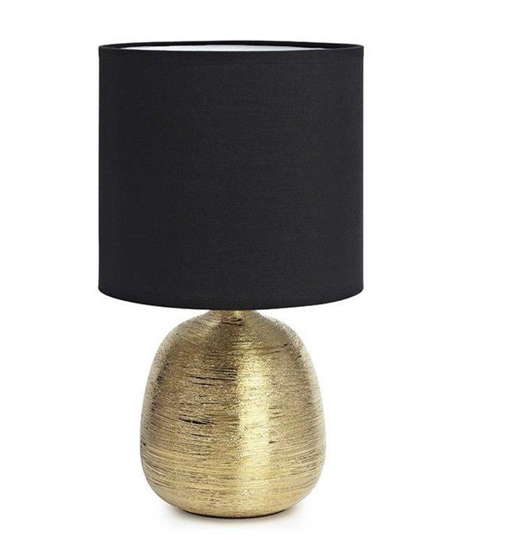 Czarno złota lampa stołowa Oscar na komodę stolik nocny do salonu sypialni jadalni