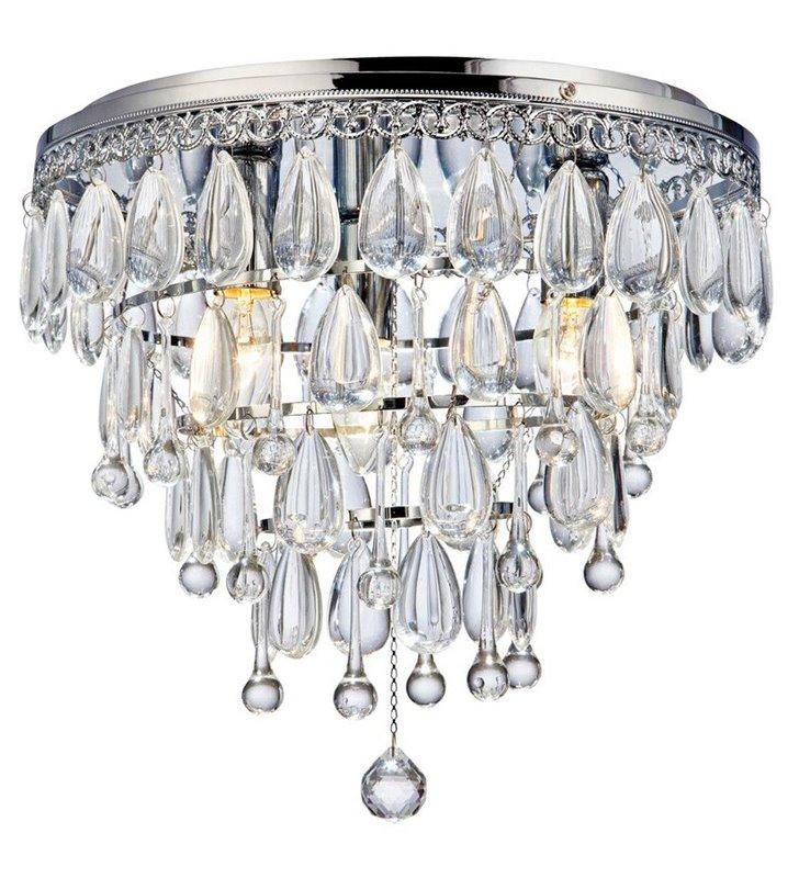 Elegancki średniej wielkości plafon kryształowy Lavinia 330 do salonu jadalni sypialni na przedpokój