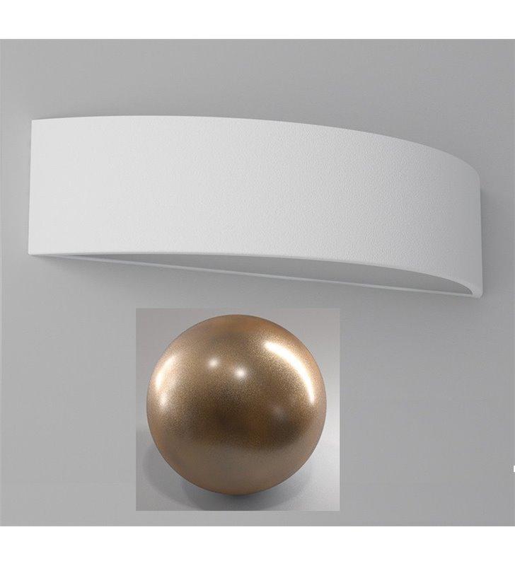 Kinkiet Aba 400 łuk dolega do ściany kolor złoty brąz nowoczesny do salonu sypialni na przedpokój - DOSTĘPNY OD RĘKI