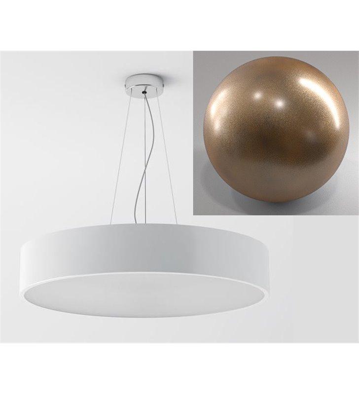 Lampa wisząca Aba 40 okrągła kolor złoty brąz nowoczesna do salonu kuchni jadalni sypialni - DOSTĘPNA OD RĘKI
