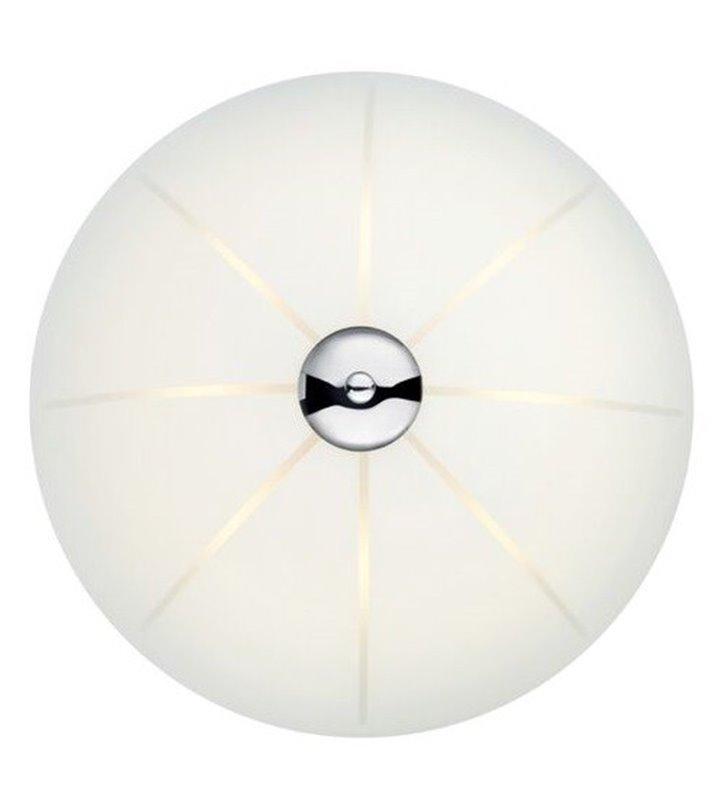 Szklany biały plafon Nazca 350 LED