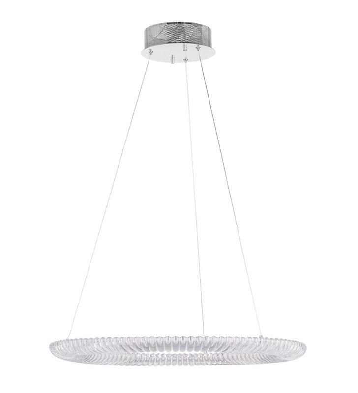 Lampa wisząca obręcz z dekoracyjnego tworzywa Rea 61cm nad stół do jadalni kuchni salonu sypialni