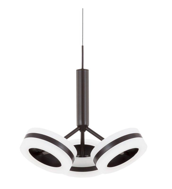 Lampa wisząca Metis brązowa 3 klosze ruchome do jadalni kuchni salonu sypialni styl nowoczesny