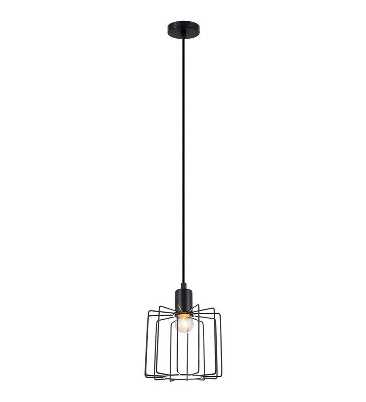 Czarna druciana loftowa lampa wisząca Gervais