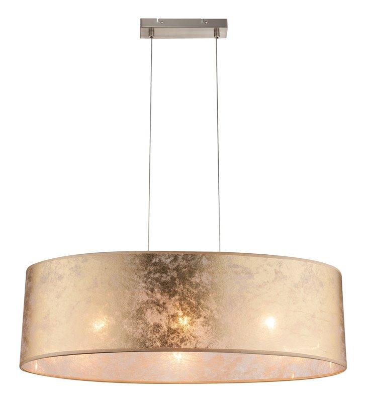 Lampa wisząca Amy złota abażur podłużny owalny 3 żarówki idealna nad stół do jadalni