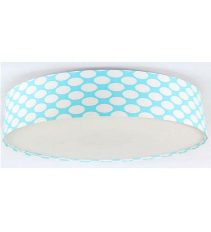 Plafon Arielka 500 niebieski w białe groszki do pokoju dziecka 3 rozmiary
