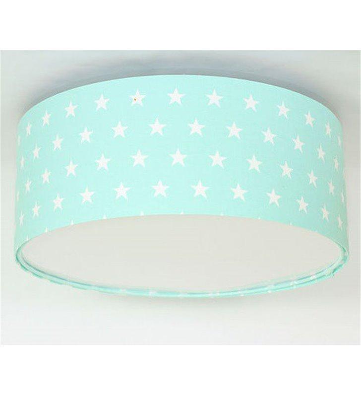 Plafon Daisy 400 do pokoju dziecka niebieski w białe gwiazdki