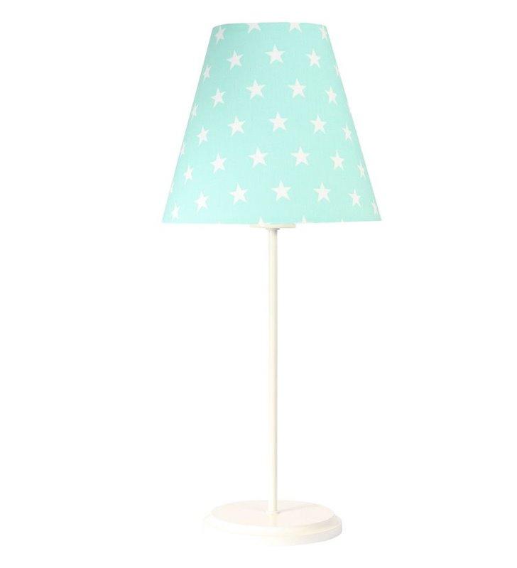 Jasna nocna lampka dziecięca Daisy abażur w gwiazdki