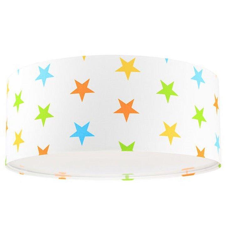 Plafon Antek1 400 biały w kolorowe gwiazdki - DOSTĘPNY OD RĘKI