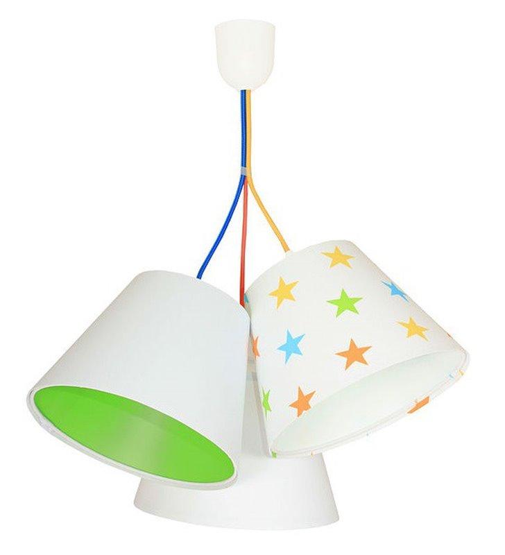 Kolorowa wisząca lampa dziecięca Antek