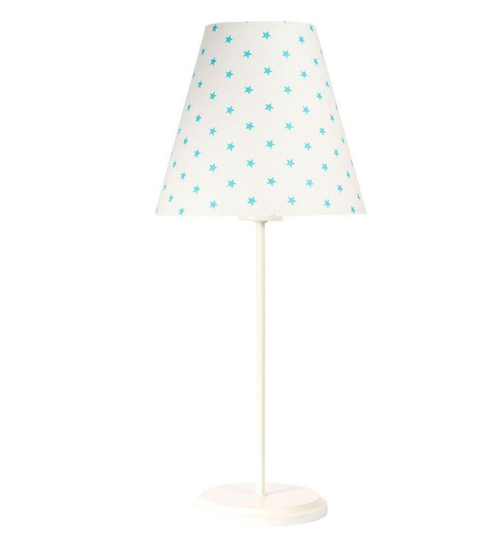 Lampka stołowa do pokoju dziecka Star biała abażur w gwiazdki