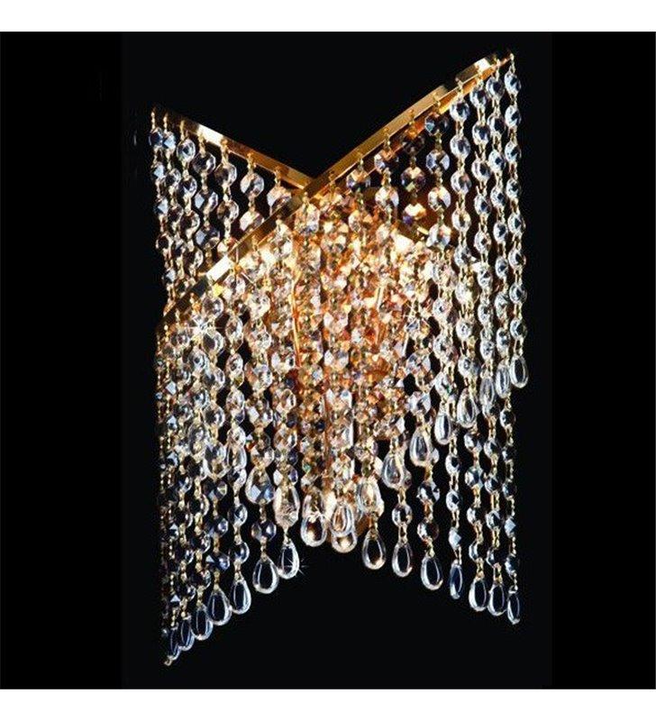 Złoty kinkiet kryształowy Cross