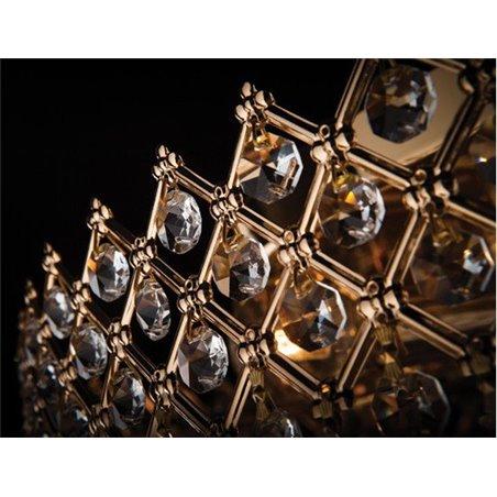 Kaskadowy plafon kryształowy ze złotym wykończeniem Daisy 520