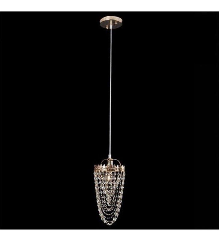 Lampa wisząca Lozano pojedyncza klasyczna kryształowa