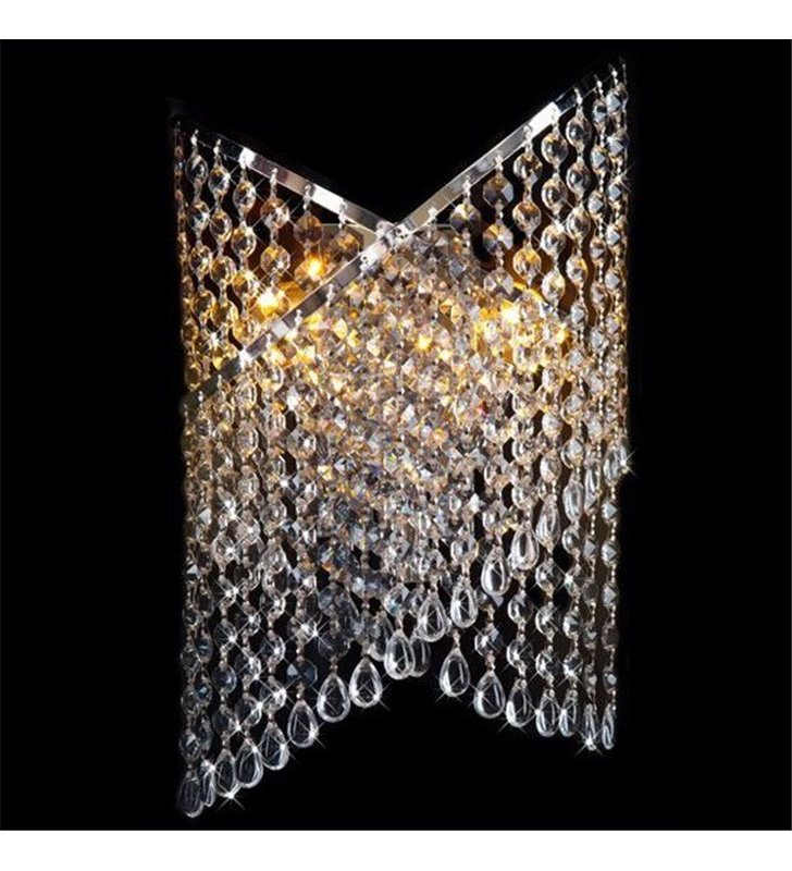 Kinkiet Cross kryształowy wykończenie w kolorze chrom - OD RĘKI