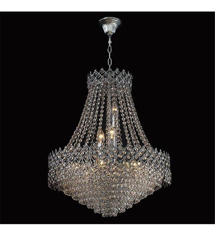 Żyrandol Zafira kryształowy wykończenie chrom średnica 51cm do salonu sypialni jadalni nad stół