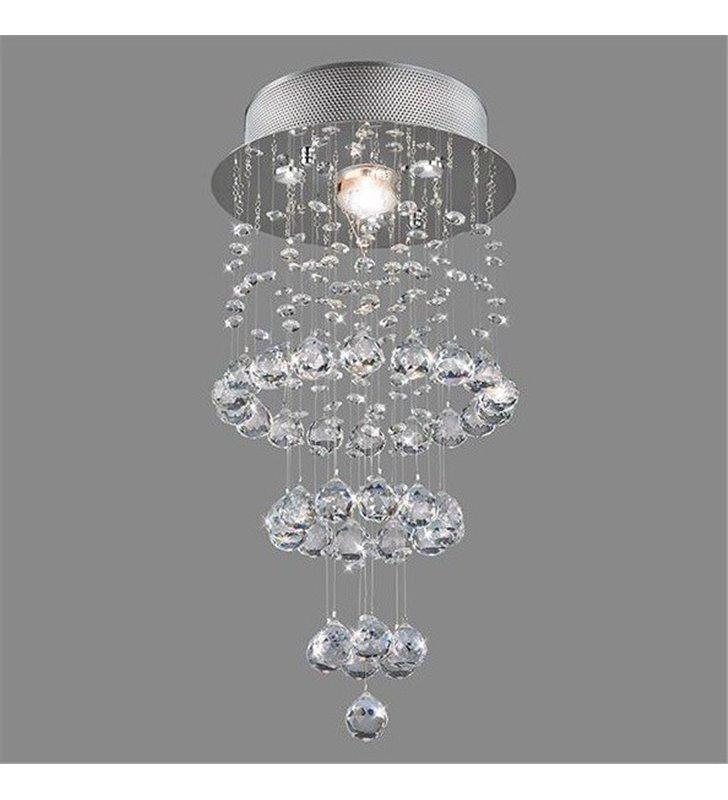 Nowoczesna lampa kryształowa Celine z długimi kryształowymi wisiorami - DOSTĘPNA OD RĘKI