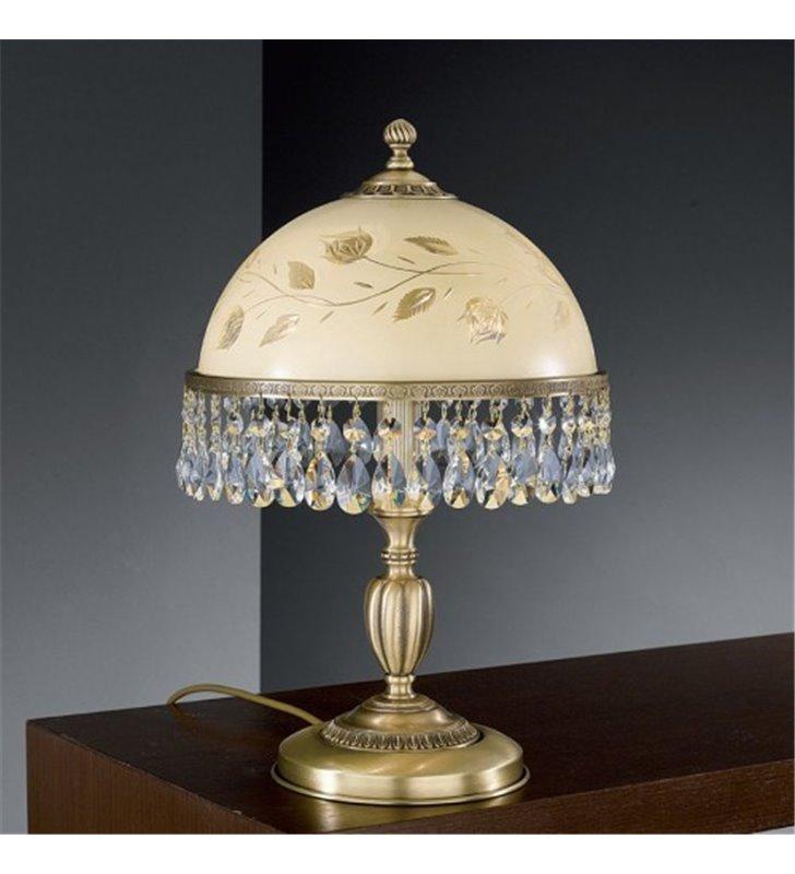 Lampa kryształowa Sassari1 stołowa kolor mosiądz