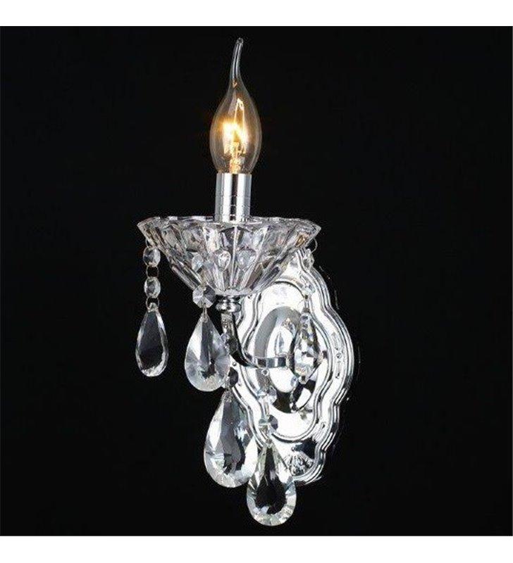 Kinkiet Parys pojedynczy z kryształami wykończenie chrom
