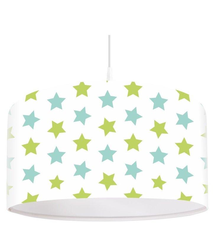 Duża jasna lampa wisząca dziecięca w gwiazdki Pastelowe Gwiazdeczki średnica 50cm