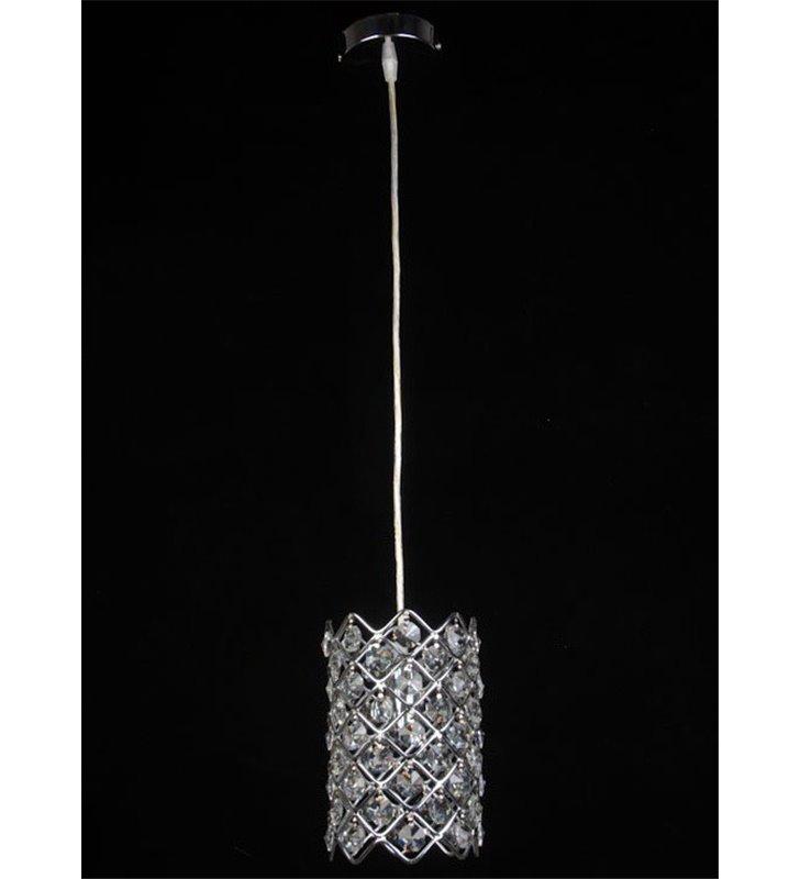 Kryształowa lampa wisząca Mefiz wykończenie chrom - DOSTĘPNA OD RĘKI