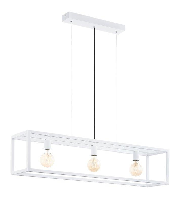 Podłużna nowoczesna biała lampa wisząca Elswick szerokość 110cm - DOSTĘPNA OD RĘKI