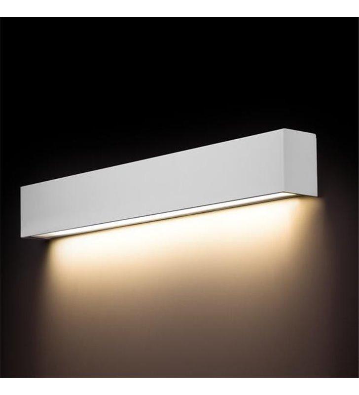 Kinkiet Straight White LED biały podłużny z metalu styl nowoczesny świeci w dół