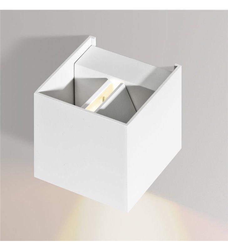 Kinkiet Gambio 4 możliwości zmiany kierunku padania światła kostaka kolor biały