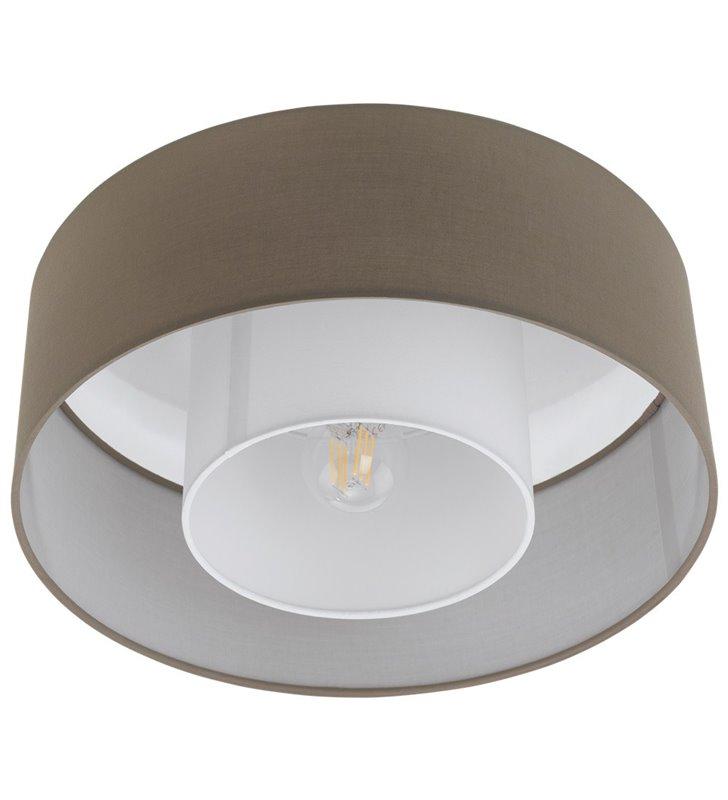 Lampa sufitowa FONTAO z brązowoszarym abażurem