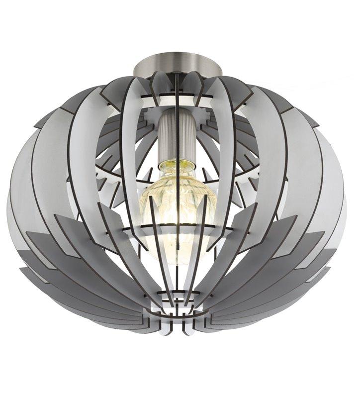 Plafon lampa sufitowa Olmero 350 abażur okrągły szaro biały do kuchni salonu sypialni na przedpokój