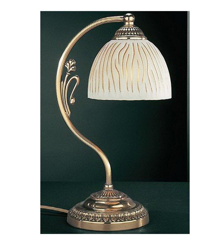Złota lampa na stolik nocny Lecce1