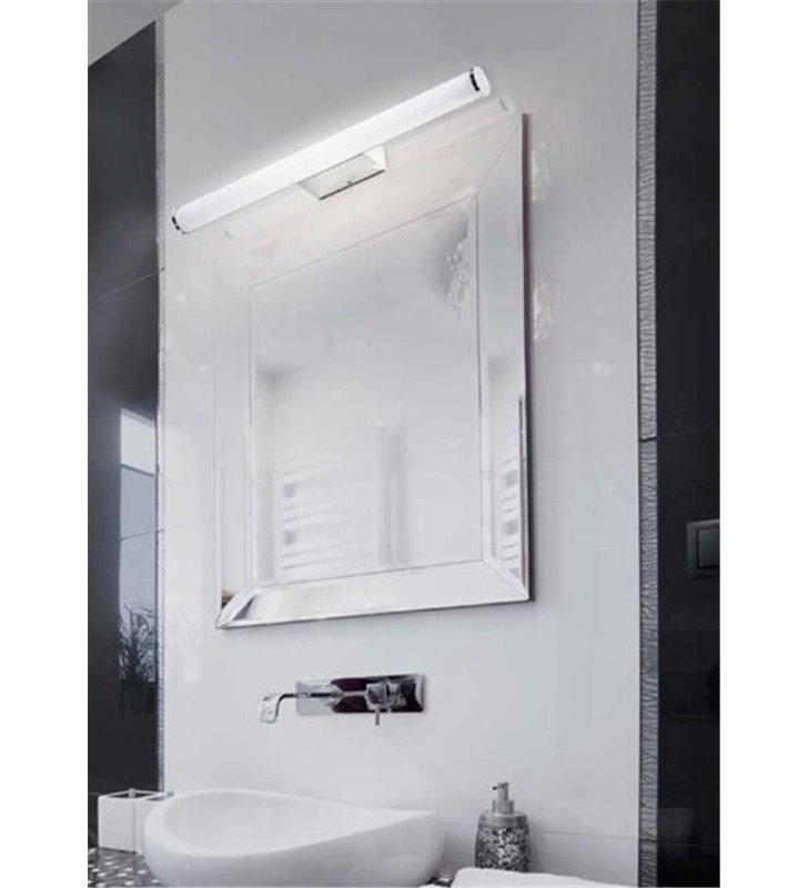 Podłużny 90cm kinkiet nad lustro do łazienki Jaro chrom 4000K