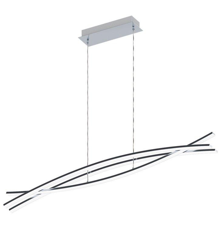 Elegancka nowoczesna lampa wisząca Nevado LED do salonu biura lub jadalni wykończona w chromie