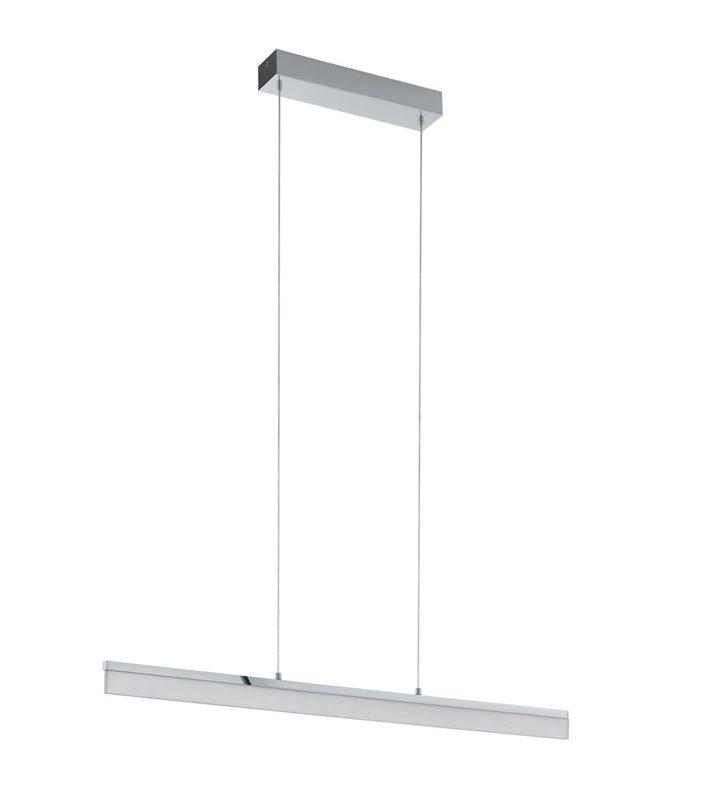 Podłużna nowoczesna lampa wisząca Tarandell LED chrom do minimalistycznych wnętrz nad stół do jadalni kuchni salonu do biura