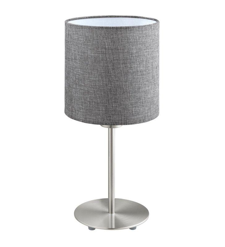 Lampa stołowa Pasteri z lnianym abażurem w kolorze szarym