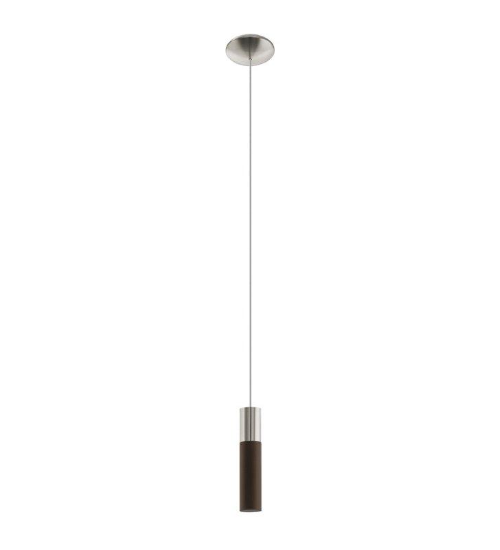 Pojedyncza lampa wisząca Villora z niklowym wykończeniem do jadalni sypialni