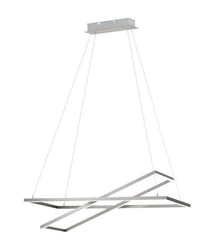 Nowoczesna lampa wisząca Tamasera 2 ruchome klosze nikiel satyna z możliwością ściemniania światła do sypialni jadalni