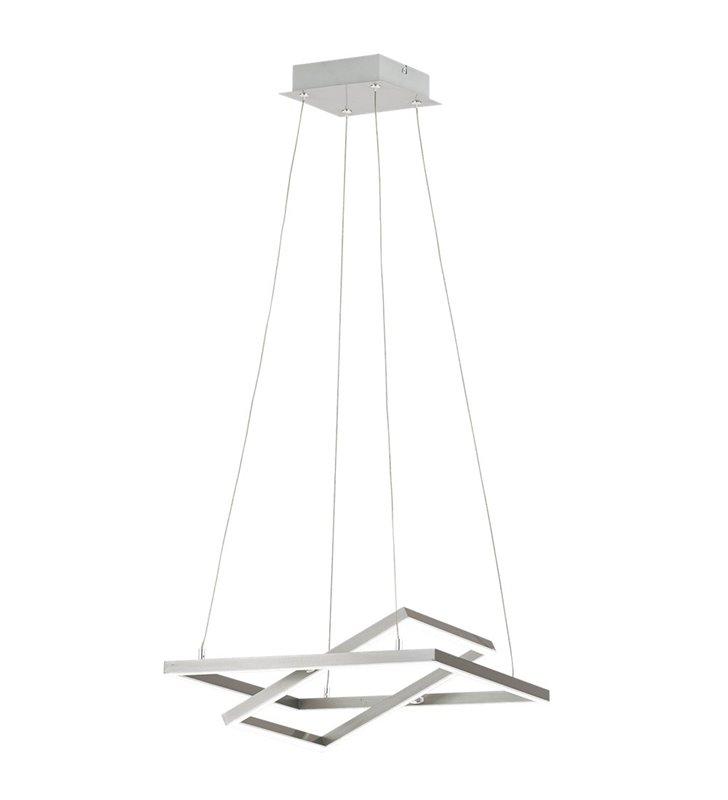 Interesująca nowoczesna lampa wisząca Tamasera wykończenie nikiel satyna z ruchomymi kloszami salon sypialnia kuchnia biuro