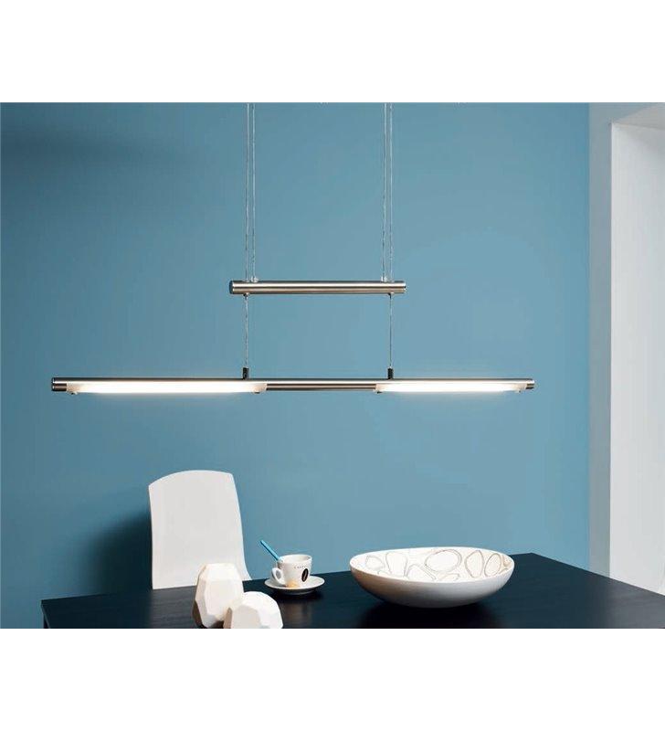 Gustowna lampa wisząca Flagranera z regulowaną długością metal nikiel do jadalni salonu biura