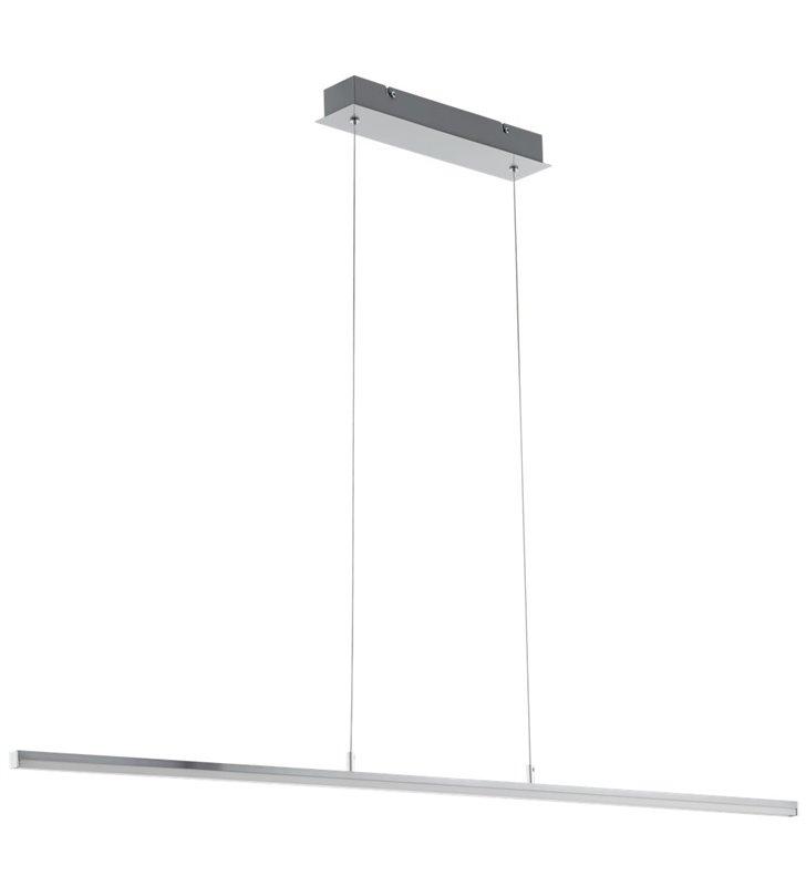 Lampa wisząca Flagranera wykonana z aluminium w kolorze satynowego niklu do salonu kuchni nad stół do biura - OD RĘKI