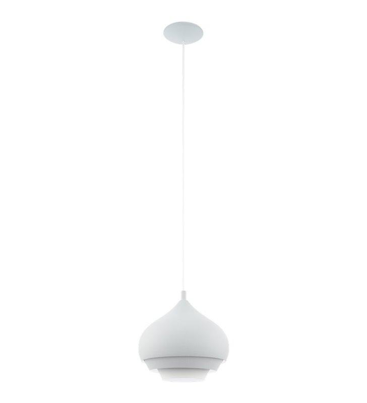 Metalowa biała warstwowa lampa wisząca Camborne do sypialni salonu kuchni