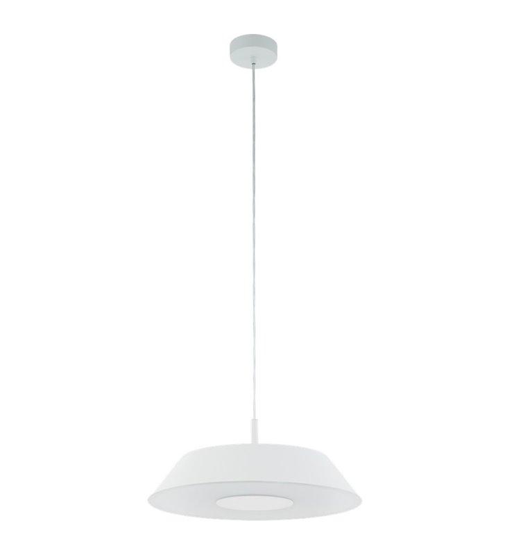 Nowoczesna lampa wisząca Carmazana z białym kloszem możliwość ściemniania