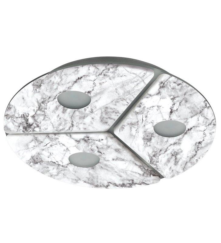 Plafon Aliste 300 LED okrągły jak z marmuru do salonu sypialni na przedpokój