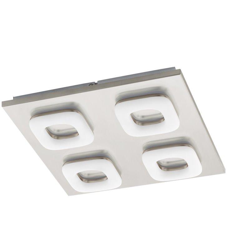 Plafon Litago 320 LED płaski nowoczesny z 4 kloszami nikiel satyna