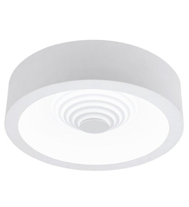 Biały plafon Leganes 455 wykonany z tworzywa okrągły do salonu na przedpokój do sypialni