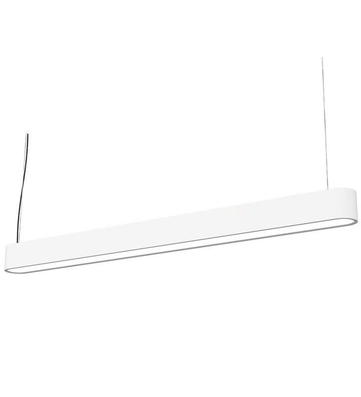 Lampa wisząca Soft White LED 90 biała podłużna do biura kuchni jadalni salonu nad stół wyspę kuchenną