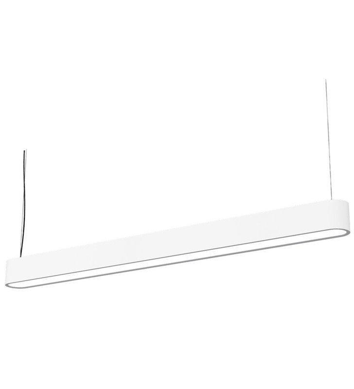 Lampa wisząca Soft White LED 120 podłużna biała do biura kuchni jadalni salonu nad stół wyspę kuchenną